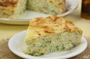 Пирог из лаваша с зеленью - фото шаг 8