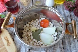 Перловая каша с фасолью, тыквой и беконом - фото шаг 2