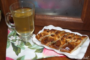 Пирог с курицей из дрожжевого теста - фото шаг 9