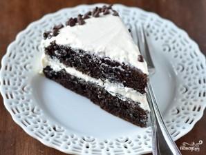 Шоколадный торт с творожным кремом - фото шаг 5
