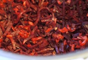Мясо в мультиварке с помидорами - фото шаг 2