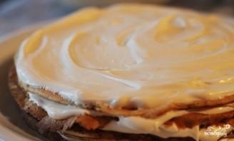 Блинный торт с кремом из сгущенки - фото шаг 6