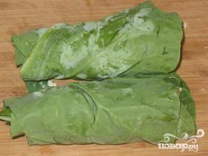 Вегетарианские рулетики из листовой капусты - фото шаг 4