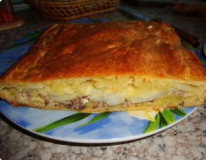 Пирог с рыбными консервами - фото шаг 11