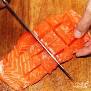 Филе лосося с оливками на пару - фото шаг 7