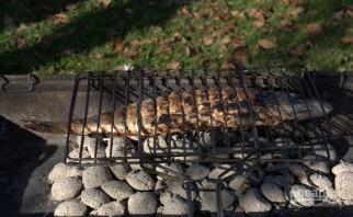 Щука на мангале - фото шаг 4