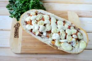 Пицца в батоне - фото шаг 8