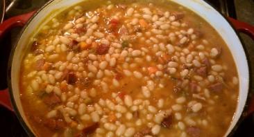 Суп с фасолью и беконом - фото шаг 4