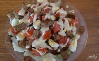 Салат из форели горячего копчения - фото шаг 10