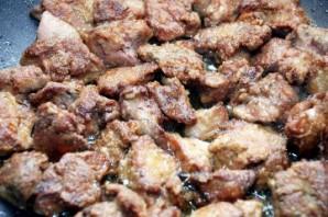 Печень куриная на сковороде - фото шаг 5
