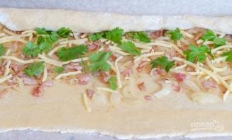 Булочки с начинкой из сыра и бекона - фото шаг 1