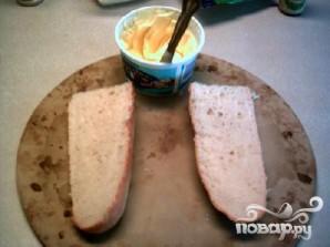 Чесночно-сырный бутерброд - фото шаг 2