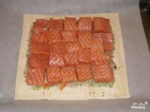 Пирог с семгой и рисом - фото шаг 2