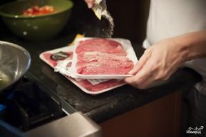 Салат с жареным мясом - фото шаг 5