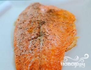 Жареный лосось с картофелем, спаржей и каперсами - фото шаг 3