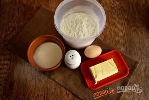 Пирог с печенью и грибами - фото шаг 1