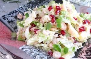 Салат из пекинской капусты с креветками - фото шаг 5