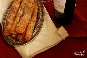Блинчики с тыквой, беконом и козьим сыром - фото шаг 4