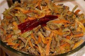 Куриные сердечки с морковью - фото шаг 5