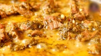 Чакапули (мясо в зелени и вине)  - фото шаг 8