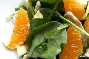 Салат из шпината и мандаринов - фото шаг 2