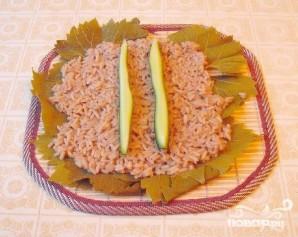 Роллы с виноградными листьями - фото шаг 3