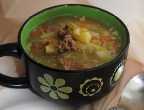 Суп с говяжьим фаршем - фото шаг 4