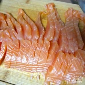 Блины с красной рыбой - фото шаг 6