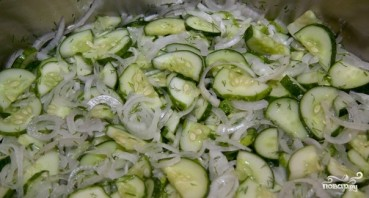 Салат из огурцов на зиму - фото шаг 7
