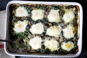 Яйца, запеченные с грибами и шпинатом - фото шаг 7