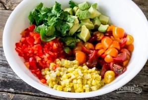 Быстрый овощной салат - фото шаг 2