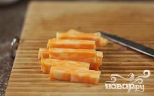 Сырные палочки с курицей - фото шаг 2