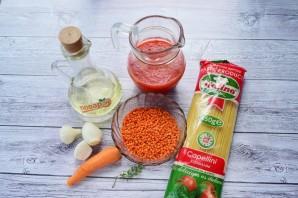 Паста с чечевицей и морковью - фото шаг 1