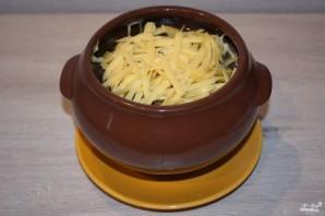 Мясо с грибами и сыром в духовке - фото шаг 6