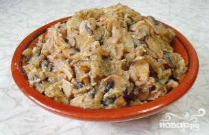 Пресный пирог с грибами - фото шаг 3