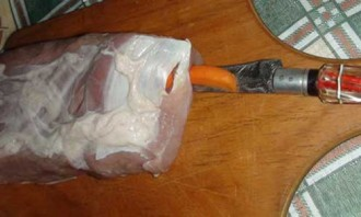 Свинина в рукаве для запекания - фото шаг 2