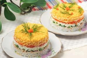 """Салат """"Мимоза"""" с рисом и сыром - фото шаг 9"""