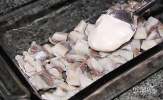 Салат рыбный - фото шаг 3