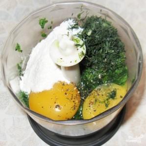 Зеленый рулет из шпината с лососем - фото шаг 4