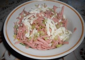 Начинка с колбасой для лаваша - фото шаг 4