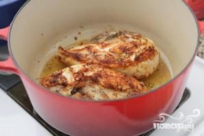 Курица с пастой кампанелле и соусом - фото шаг 3