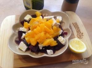 Салат со свеклой, брынзой и апельсином - фото шаг 5