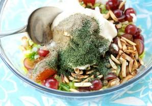 Салат с курицей и виноградом - фото шаг 8