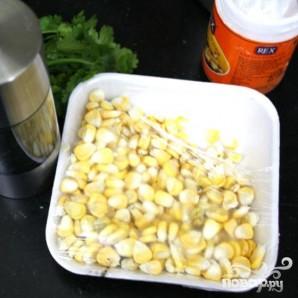 Морковные кексы с кориандром и кукурузой - фото шаг 4