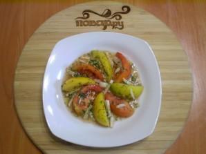 Быстрые помидоры с чесноком - фото шаг 6