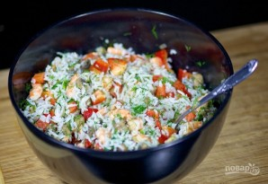 Грибной салат - фото шаг 7