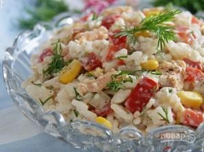 Салат из горбуши с рисом - фото шаг 5
