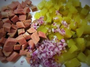 Салат с говядиной и свеклой - фото шаг 5