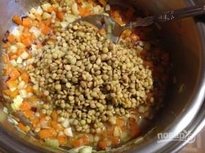 Чечевичный суп с беконом - фото шаг 5
