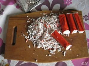 Рулет из лаваша с крабовыми палочками - фото шаг 2